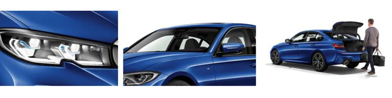 BMW 3-sarjan Plug-in Hybrid Sedanien* innovatiivinen käyttövoimakonsepti muodostuu uudesta, entistäkin tehokkaammasta nelisylinterisestä BMW TwinPower Turbo -bensiinimoottorista, erittäin taloudellisesta eDrive-sähkömoottorista ja BMW EfficientDynamics -teknologioista.