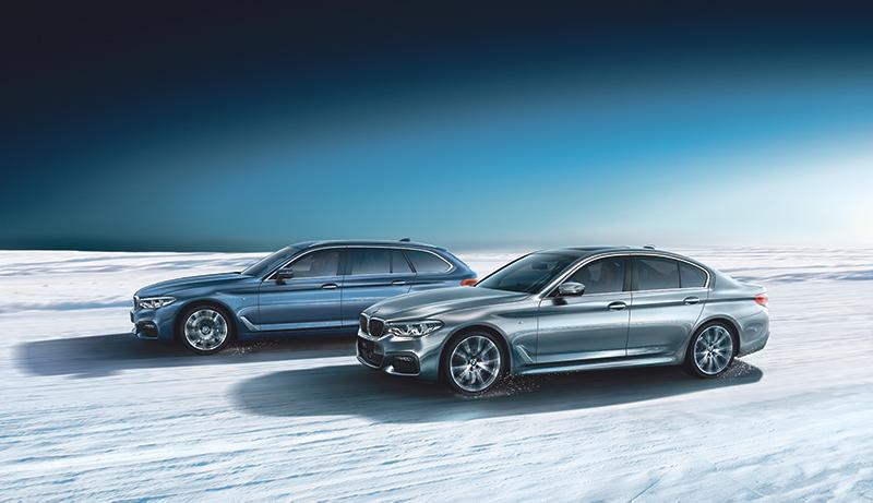 Jätä lumityöt muille. BMW 5-sarjaan xDrive-neliveto vain 490 €.
