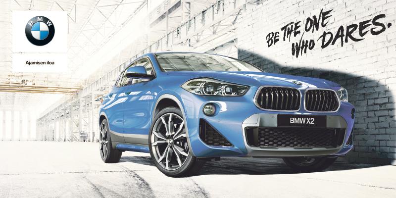 BMW X2 - nyt talvirenkaat + lämmitinpaketti nyt 490 €.