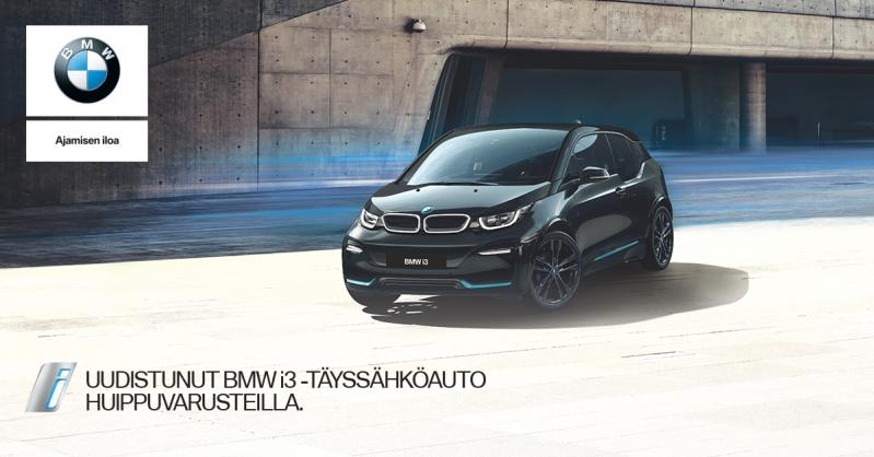 Uudistunut BMW i3 täyssähköauto