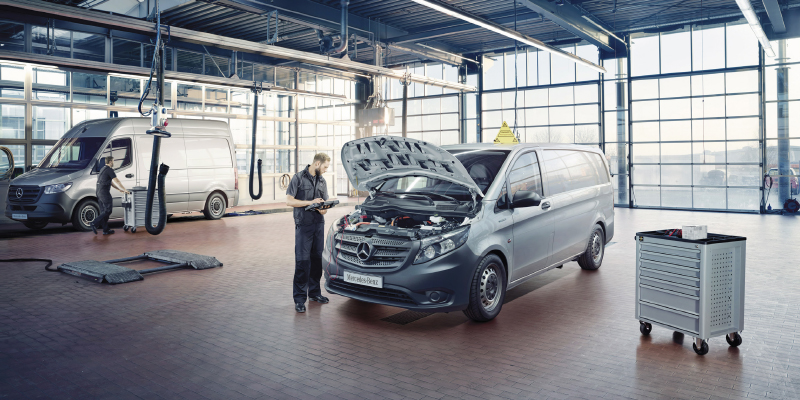 Mercedes-Benz hyötyajoneuvojen huollon tarjoukset