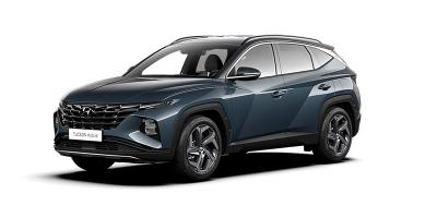 Uusi Hyundai Tuscon kulmasta