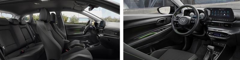 Uuden Hyundai i20:n kasvaneet akseliväli ja leveys tarjoavat takamatkustajille aiempaa väljemmät tilat.