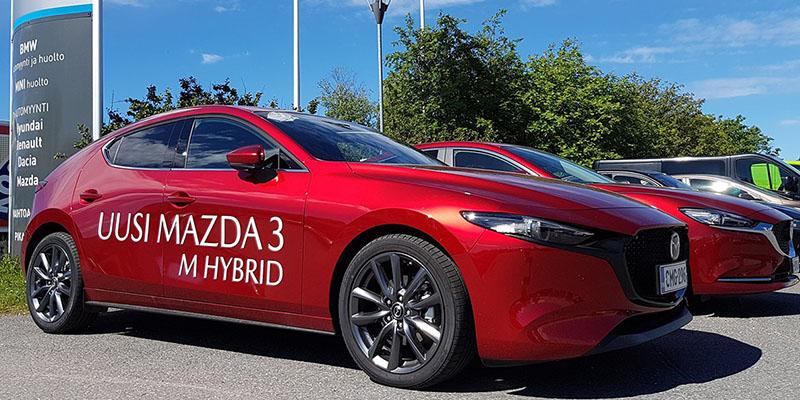 Mazda3 M Hybrid koeajettavissa Oulun Wetterillä.