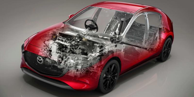 AJONEUVON SKYACTIV-ARKKITEHTUURI Auton korista ja alustasta koostuva Skyactiv®-alusta on Mazdan ajokokemuksen keskiössä.