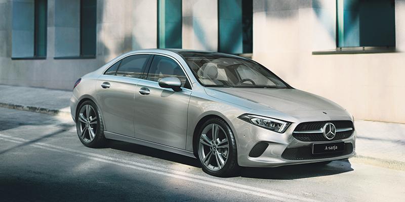 Uusi A-sarjan Sedan. Nyt edulliseen  kuukausihintaan.