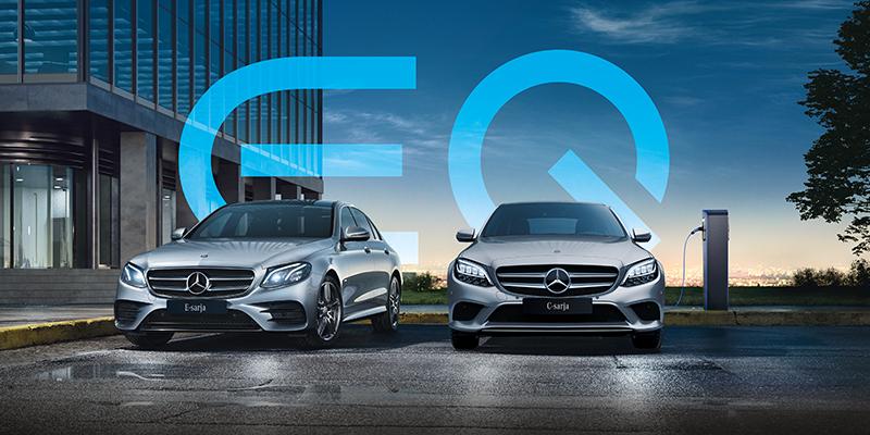 E-sarjan EQ Power sedan ja farmari ladattavat hybridit.