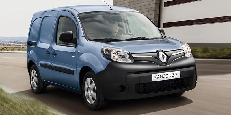 Renault KANGOO Z.E. Täyssähköinen Kangoo Z.E. sähköistää tavarankuljetuksen