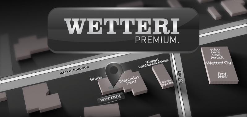 Wetteri Premium vaihtoautot myymälä Rovaniemi sijainti