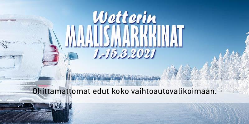 Wetterin Maalismarkkinat 1.-15.3.2021
