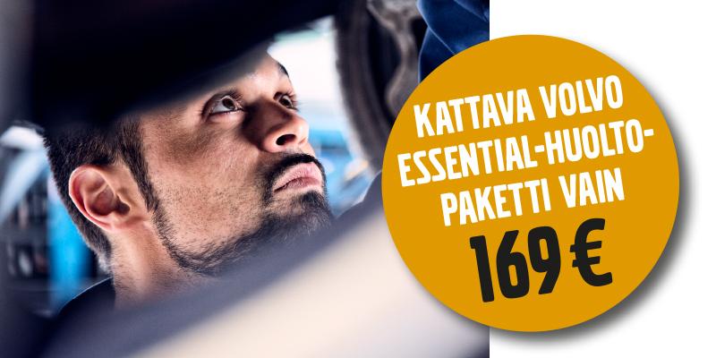 Edullinen Volvo Essential-huolto on tarkoitettu vanhemmille (yli 6 vuotiaille) Volvo -malleille