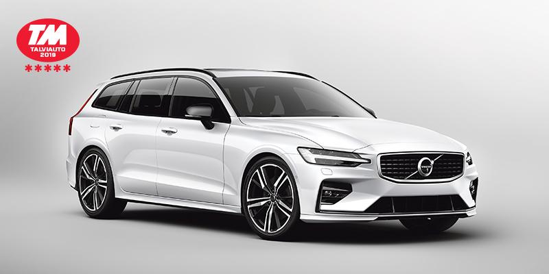 Uusi Volvo V60 Sportswagon on Talviauto 2019  ja voittaja Tekniikan Maailman suuressa talvivertailussa*.