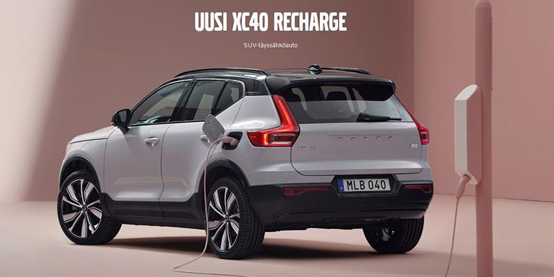 Volvo XC40 recharge täyssähkö SUV varattavissa Wetteriltä